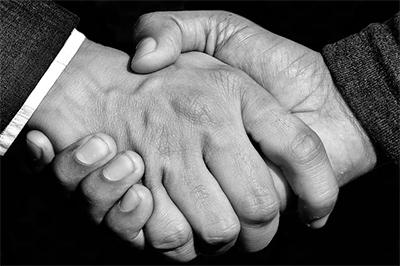 Soovage Handshake Wij Zijn Er Voor U